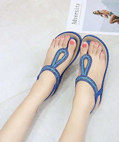 Fashion Tissage Tongs Yalanshop étudiant 1Color Femmes pour Chaussures Sandales q4SqwFtR