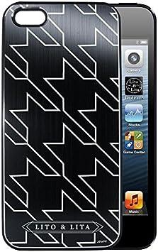 Coque iPhone 5/5S PIEDS DE POULE Sans rabat en Alu brossé noir ...
