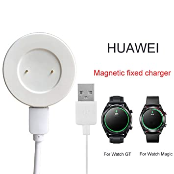 Womdee Cargador de Reloj para Huawei, Cargador de Cable de Carga portátil, Cargador magnético Fijo para Huawei Smart Watch GT Glory Magic