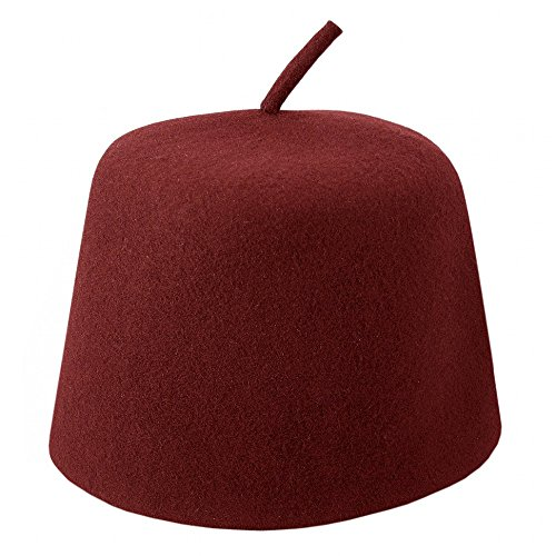 Village Hat Shop Maroon Fez w/Stem (Small)