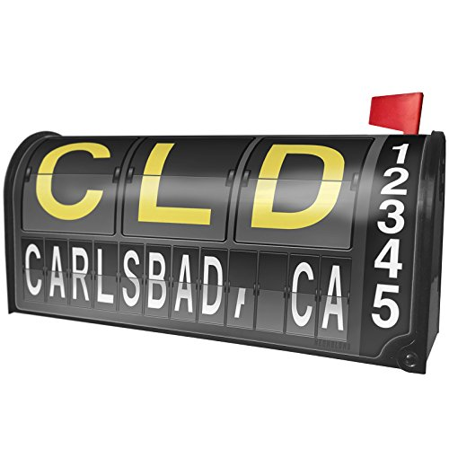 Air Cld (NEONBLOND CLD Airport Code for Carlsbad, CA Magnetic Mailbox Cover Custom Numbers)