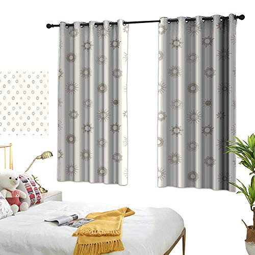 Creative and diverse interior and exterior curtains Seamless background with beige doodle sun Can be used for wallpaper pattern fills textile web page background surface textures Premium washable iron