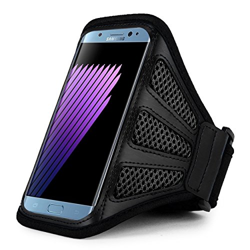 Black Mesh Sport Armband (Premium Mesh Running Sport GYM Armband Case for iPhone 8 Plus / iPhone X / Samsung Galaxy Note 8 / S8 Active / Motorola Moto G5s Plus / LG V30 / LG Venture / LG K20 / HTC U11 / HTC U Ultra (Black))