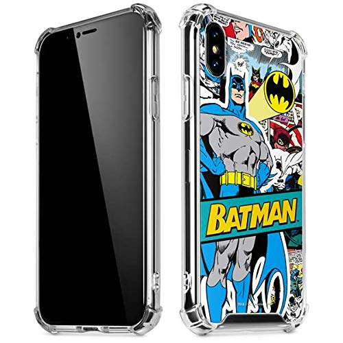 Skinit Batman Comic Book iPhone X/XS Clear Case - Officially Licensed Warner Bros Phone Case Clear - Transparent iPhone X/XS Cover