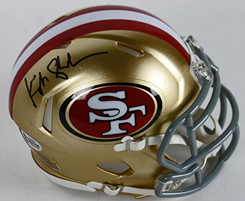 49Ers Kyle Shanahan Autographed Mini Helmet Signed   Beckett Authentic