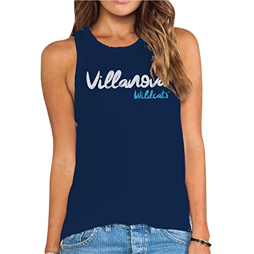 Original Retro Brand NCAA Villanova Wildcats Women's Racer Tank Top, Small, Navy ()