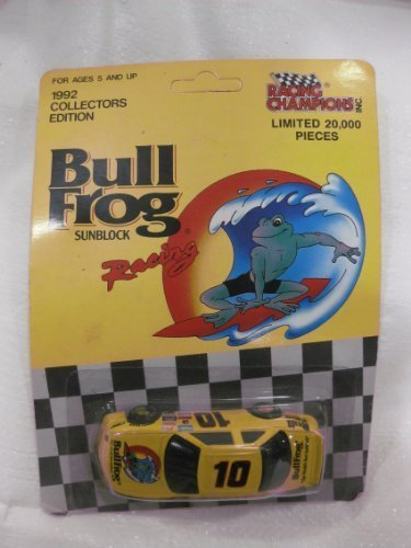 Racing Champions 1/64 Scale Die-Cast 1992 Collectors Edition #10 Bull Frog Sunblock Promo Chevrolet Lumina Racing Car