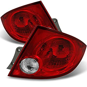 for chevy cobalt pontiac g5 pursuit 4dr sedan red clear rear tail lights brake lamps repalcement pair  1997 2003 pontiac grand prix led black