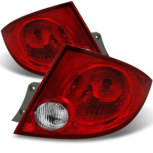 For Chevy Cobalt Pontiac G5 Pursuit 4Dr Sedan Red Clear Rear Tail Lights Brake Lamps Repalcement Pair