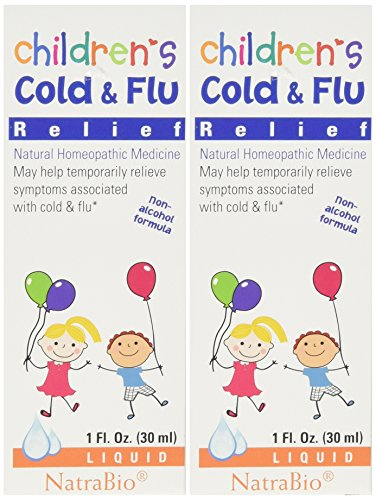 Natrabio Children's Cold & Flu Relief, 1-ounce (Pack of 2) ()