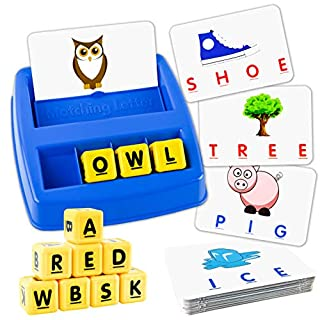 Little Treasures Matching Letter Game, Teaches Word Recognition, Spelling & Increases Memory, 3 Years & Up