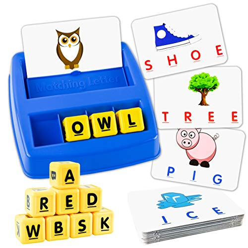 Picture Words 3 Letter - Little Treasures Matching Letter Game, Teaches Word Recognition, Spelling & Increases Memory, 3 Years & Up