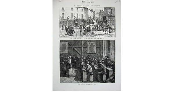 Amazon Print 1875 Hatton Garden London Italian Sunday School