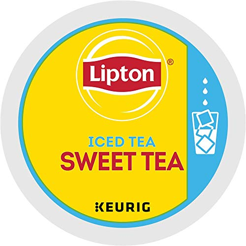 Lipton Sweet Iced Tea single serve capsules for Keurig K-Cup pod brewers, 22 Count