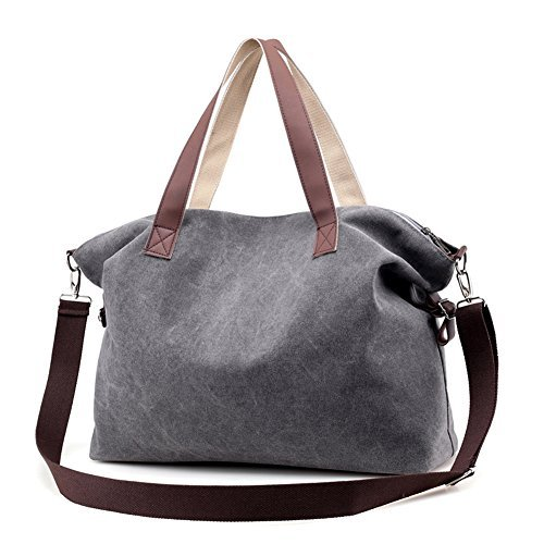 Women's Handbags,LOSMILE Shoulder Bags Top Handle Beach Tote Purse Crossbody Bag (Grey)