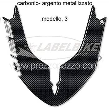 Autocollant-Sticker 3D Ergal Garde-Boue Compatible Scooter Yamaha Tmax 530 2015-2016 Carbone Or