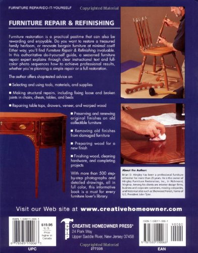 Furniture Repair & Refinishing (Creative Homeowner Ultimate Guide To. . .)