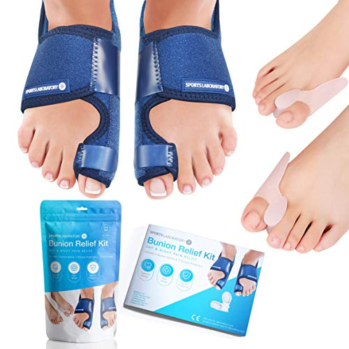 Sports Laboratory  Bunion Correctors Day & Night Kit, 2X Bunion Splints and 2X...