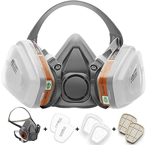 [Half mask respirator] Reusable Half Face Cover 6200 spray mask for spraying Painting.Chemical Machine Polishing.Welding…