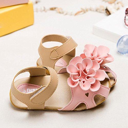 bescita Mädchen Schuhe Kühlen Sommer Sandalen Skidproof Kleinkinder Kinder Kind Blume Schuhe (29, Rosa)