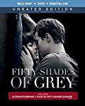 Cover Image for 'Fifty Shades of Grey -  (Unrated Blu-ray Edition + R- rated DVD + R- rated DIGITAL HD'