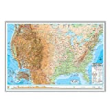 United States Advanced Physical Mounted Framed Wall Map Frame Color: Silver