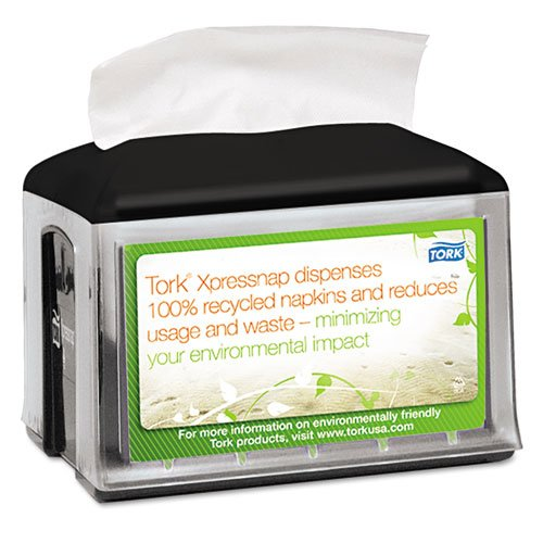 Tork Xpressnap Tabletop Napkin Dispenser, 5.8w x 7.8d x 6.2h, Black - Includes one each.