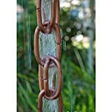 Extra Link Copper Rain Chain with Installation Kit - 13 Foot