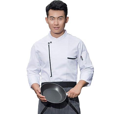 Denret3rgu Chaqueta de Chef Unisex Servicio de Alimentos ...