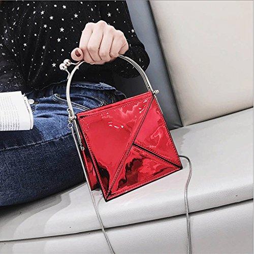 Handbag Bolsa de Verano Súper, Bolsa de Fiesta Nueva, Bolsa de Mensajero Salvaje Coreana. A+ (Color : La Plata) Red