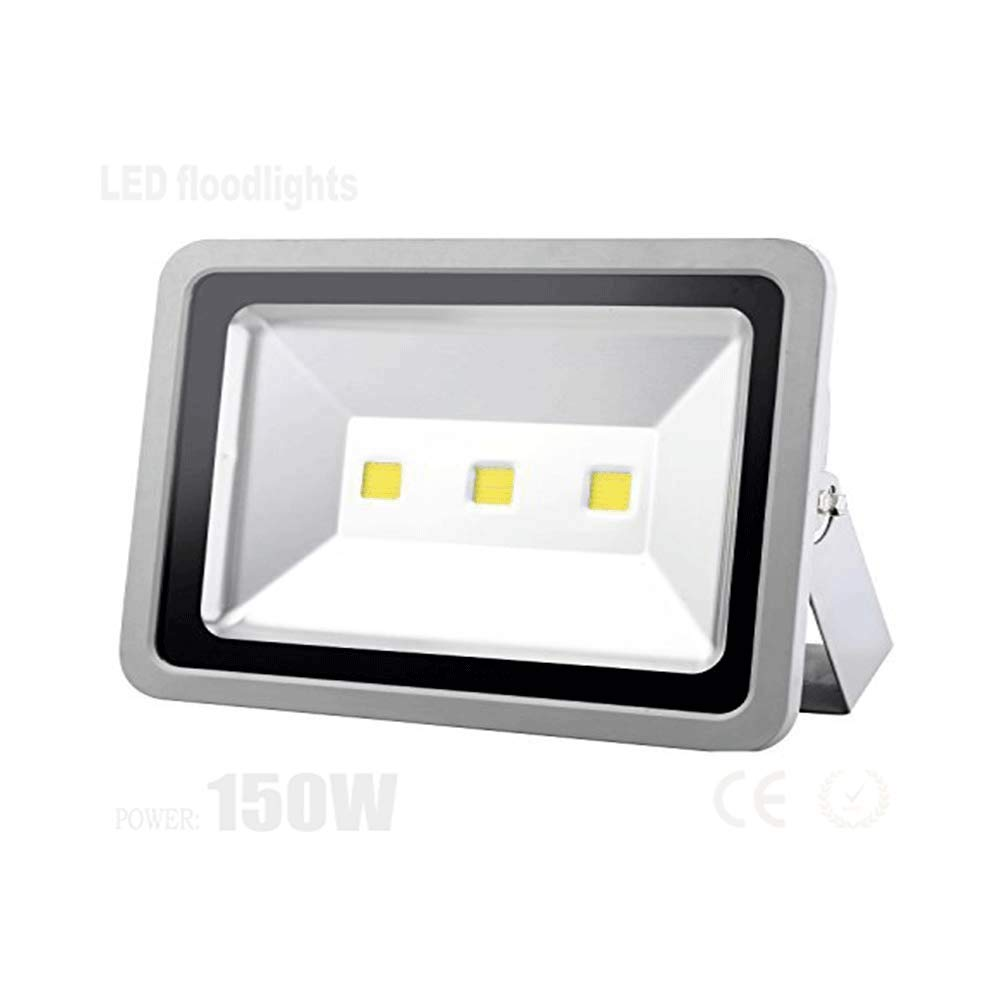 Super Bright Led Flood Light-150W Outdoor Waterproof IP66 Security Lamps,Warm White 6000K Waterproof Exterior Lighting for Basketball, Garden, Backyard, Garage, Warehouse, Commercial, Camping, Day
