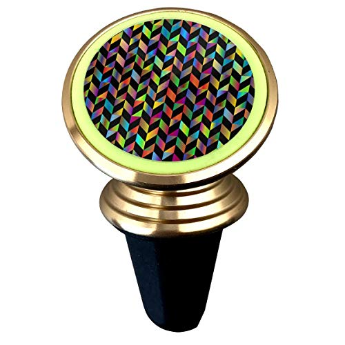 Janeither Prismatic Geometric Pattern Art Magnetic Phone Holder Mount for Car - Universal 360¡ã Rotation Car Phone Mount Luminous Metal Magnetic Holder Stand for iPhone Samsung