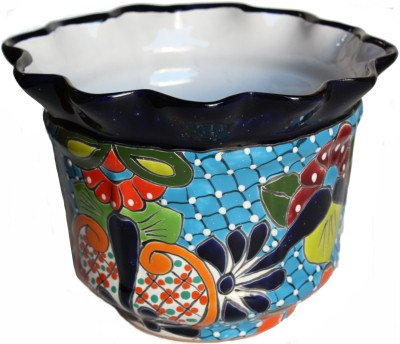 Ceramic Pots Mexican (Duero Talavera Mexican Ceramic Pot)