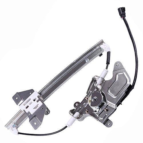 Power Window Regulators Rear Left Drivers Side with Motor Assembly Replacement Parts for 1999-2005 Pontiac Grand Am 1999-2004 Oldsmobile Alero 4 Door ()