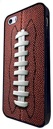658 - American Football Ball Design iphone SE - 2016 Coque Fashion Trend Case Coque Protection Cover plastique et métal - Noir