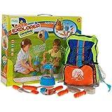 Pequeño Explorador camping Conjunto 008-80 C - herramientas conjunto de juguete para niños con linterna - mochila con útiles