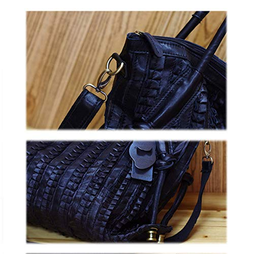 Bandolera Bolso Embragues En Moda Black Paquete Personalidad black Acolchada Bolsos Dama Laidaye Piel Marea De qwIUXtn4F