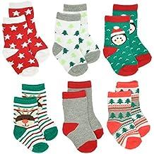 Gertex Baby First Christmas Holiday Socks Gift Box 6 Pack