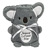 Brownlow Gifts Jesus Loves Me Blankie, Koala Bear