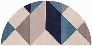Semi Circle Carpet Original Durable Rubber Door Mat Heavy Duty Doormat for Indoor Outdoor Half Circle Waterproof Low-Profile Mats for Winter Snow High Traffic Area for Bedroom Toilet Kitchen,1 Piece