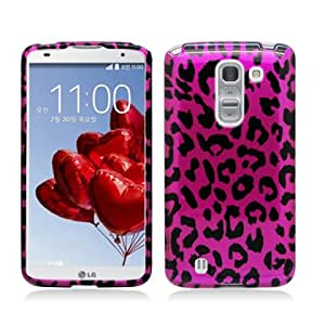 Plastic Hot Pink Leopard Hard Cover Snap On Case For LG G Pro 2 D838 + Free Screen Protector (Accessorys4Less)