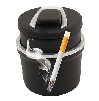 Cenicero de coche especial Led Cenicero de coche Cenicero de múltiples funciones Cenicero de cigarrillo de