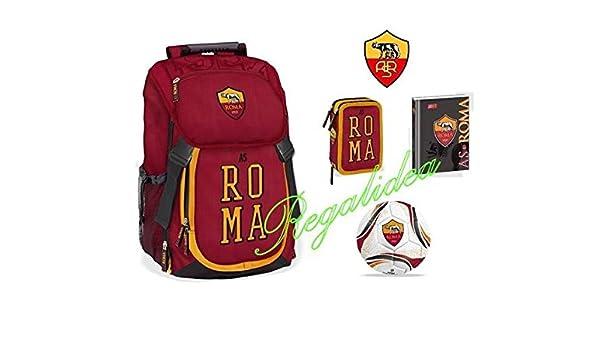 Mochila escolar oficial AS Roma + Estuche de 3 niveles ...