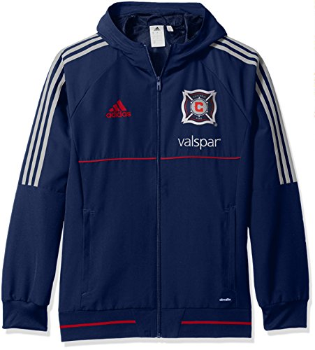 fan products of MLS Chicago Fire Adult Men Authetic Sideline Travel Jacket,Large,Navy