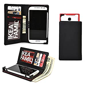 Cooper Cases(TM) PIX Samsung Galaxy Core LTE /Lite LTE /Advance /Prime Smartphone Wallet Case in Black (Sliding Frame for Rear-camera Access; Credit Card Slots & Slip Pockets; Billfold)