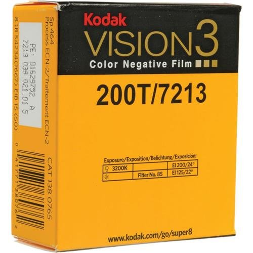 Kodak VISION3 200T/7213 Color Negative Film, SP464 Super 8 C