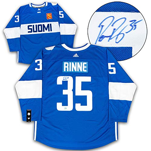 Pekka Rinne Team Finland Autographed Signed Memorabilia World Cup Of Hockey Adidas Hockey Jersey - Certified Authentic