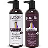 PURA D'OR Professional Grade Purple Biotin ColorHarmony Shampoo & Conditioner Set (16oz x 2) Blonde, Silver & Color Treated Hair - Keratin, Bamboo Fiber, Sulfate Free, Natural Ingredients: Men & Women