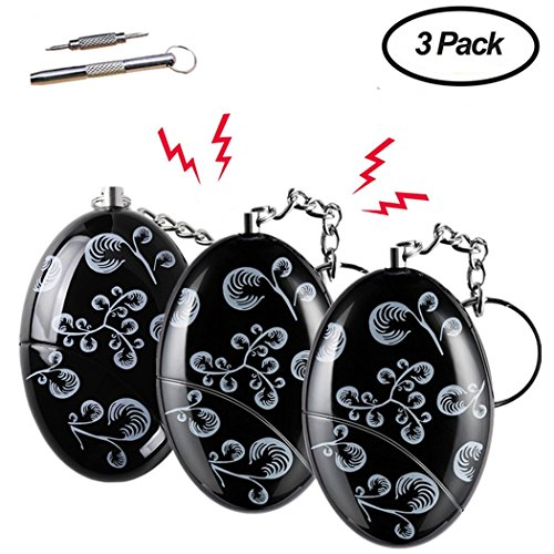 Safe Sound Personal Alarms 3 Pack 140db Security Alarm Keychain For Elderly, Women, Students, Kids Emergency Siren Song Alarm by Haricon