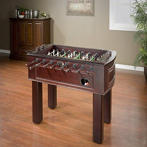 American Heritage Carlyle Series 390001 Tournament Size And Quality Foosball Table With Two Ball Returns Adjustable Leg Levelers Cup Holders With